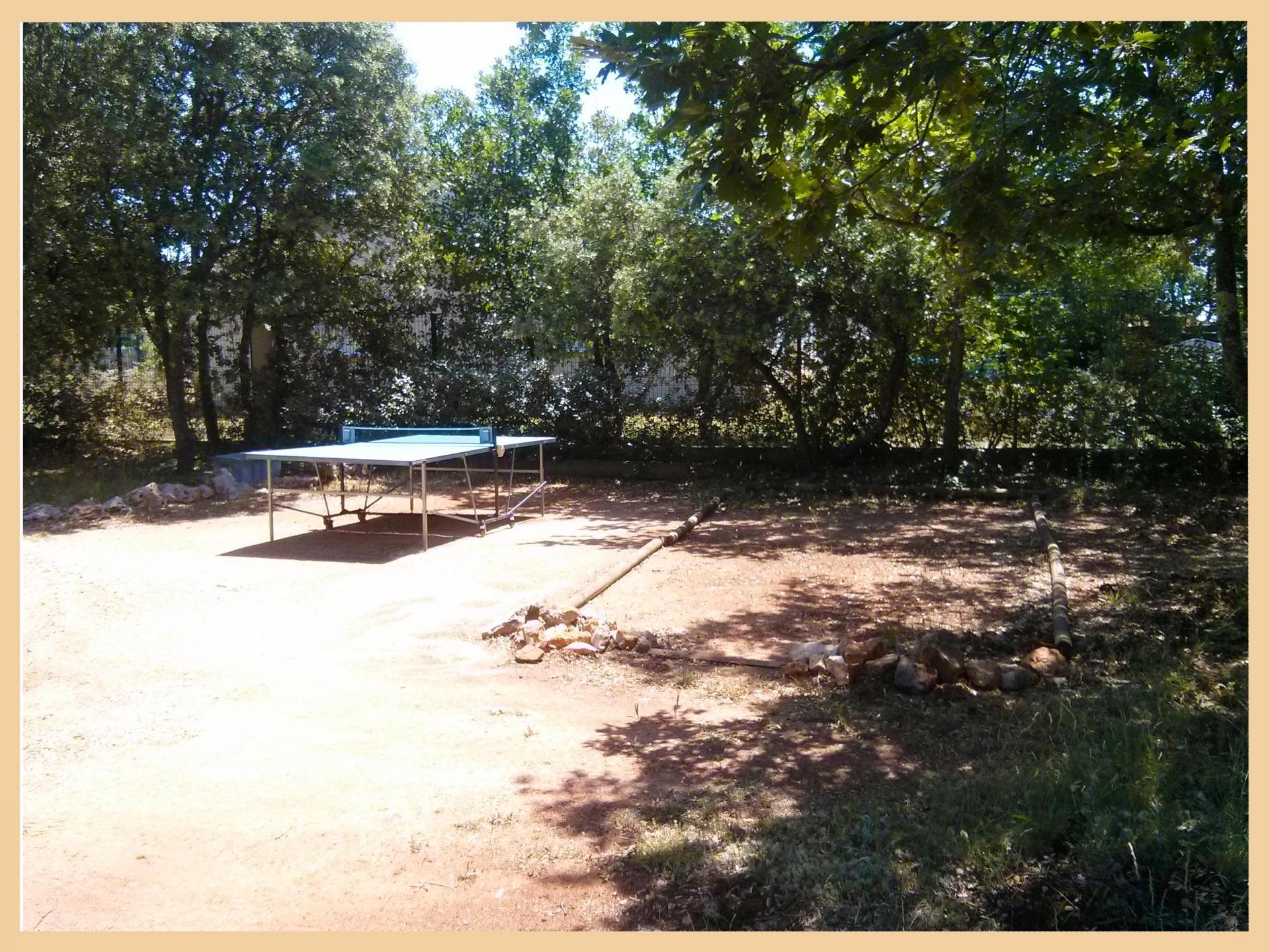 Ping-pong et terrain de boule